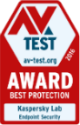 The AV-TEST BEST PROTECTION AWARD 2016 recognizes the exceptional quality of Kaspersky Endpoint Security detection technologies