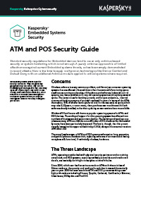 Kaspersky Embedded Systems Security - ATM and POS Security Guide