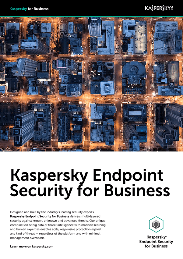 KASPERSKY ENDPOINT SECURITY FOR BUSINESS データシート