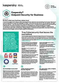 Kaspersky Endpoint Security for Business - データシート(英語)